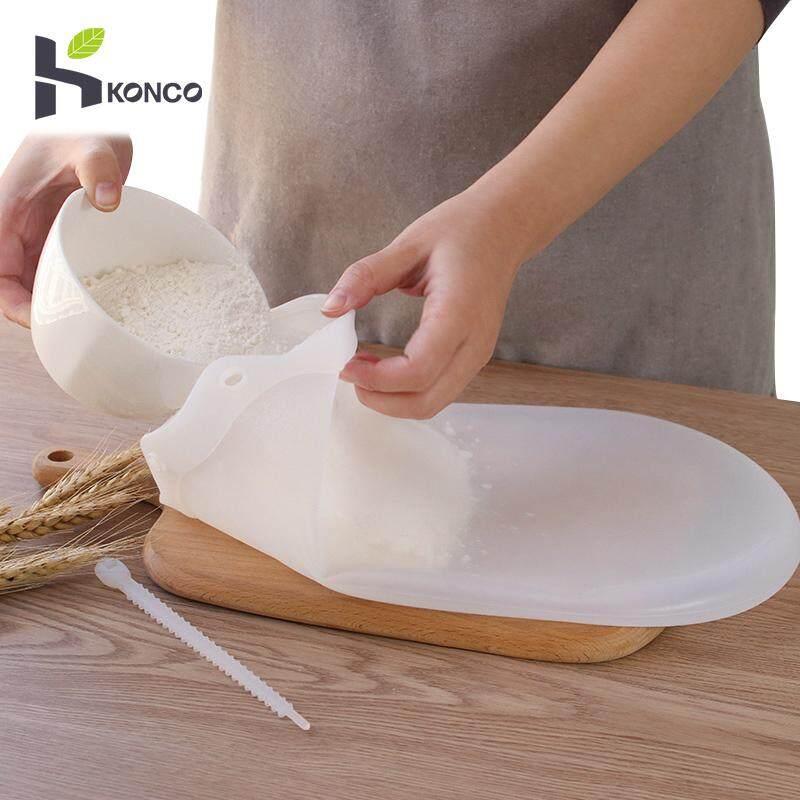 Konco Nấu Bánh Ngọt Dụng Cụ Mềm Dẻo Silicone Bảo Quản Nhào bột dính Bột-Túi phối Nhà Bếp Tiện Ích Phụ Kiện Làm Bánh dụng cụ