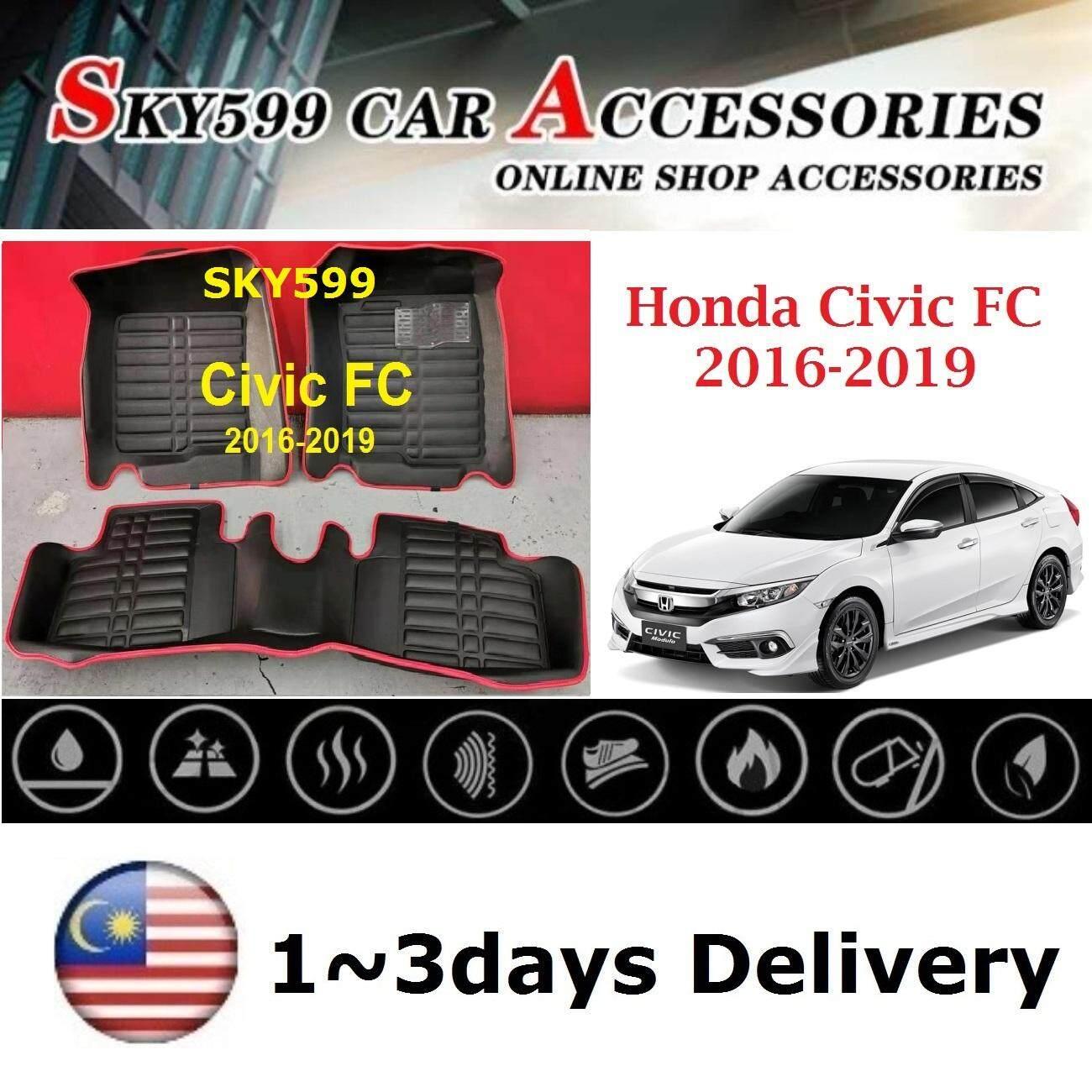 GGBAILEY D60238-F1A-GY Custom Fit Car Mats for 2016 2017 2018 2019 Honda Civic Hatchback Grey Driver /& Passenger Floor