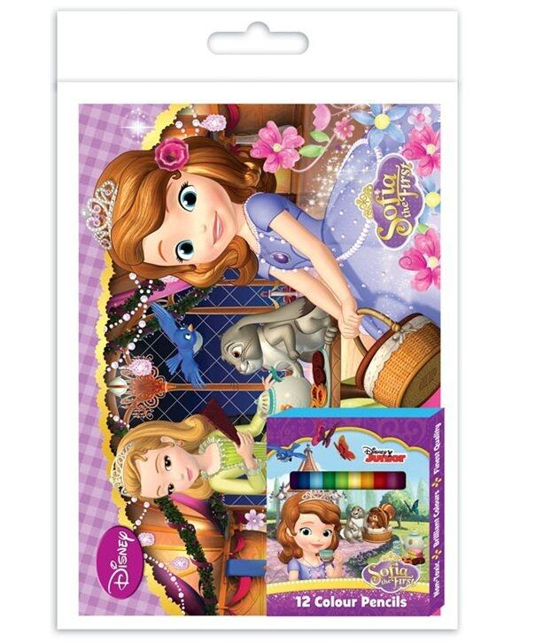 Disney Sofia Colouring Book Set - Short