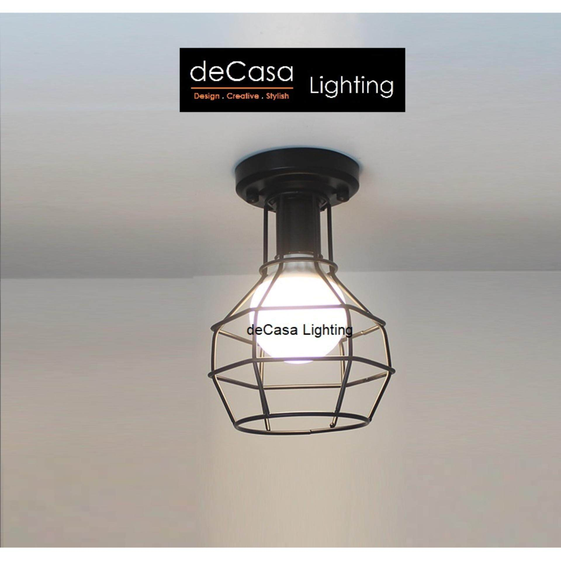 Black Loft Ceiling Light DECASA Hanging Light E27 Best Seller Ceiling Lamp (MH-0180-200-BK)
