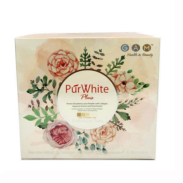 GAM PurWhite Plus Whitening Supplement Collagen, Liquorice, Strawberry