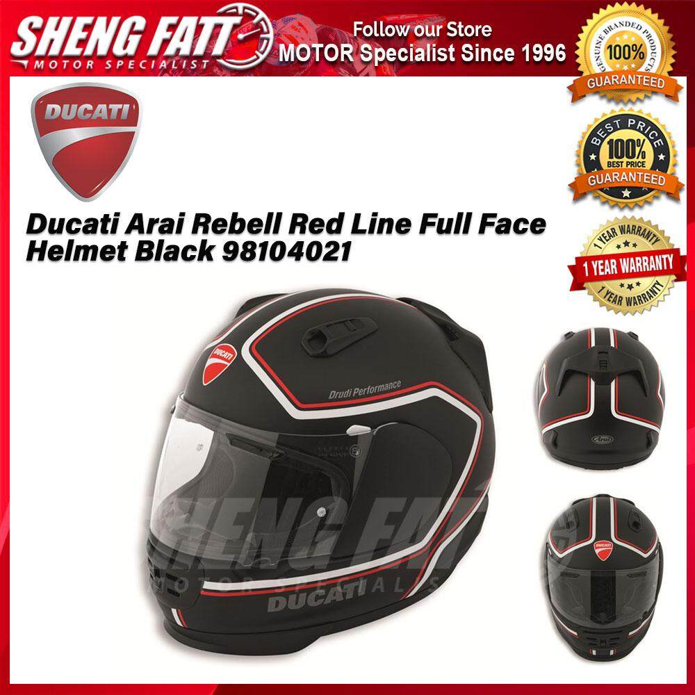 Ducati Arai Rebell Red Line Full Face Helmet Black 98104021 - [ORIGINAL]