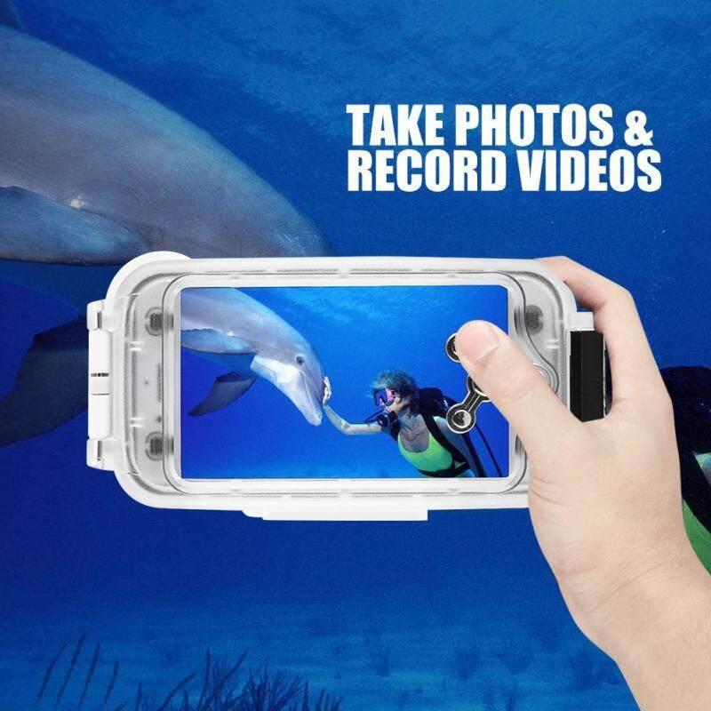 Diving - 130ft Water Resistance Underwater Diving Case Clear Photos Videos Diving Case - [BLACK 7P / WHITE7P / BLACK8P / WHITE8P]