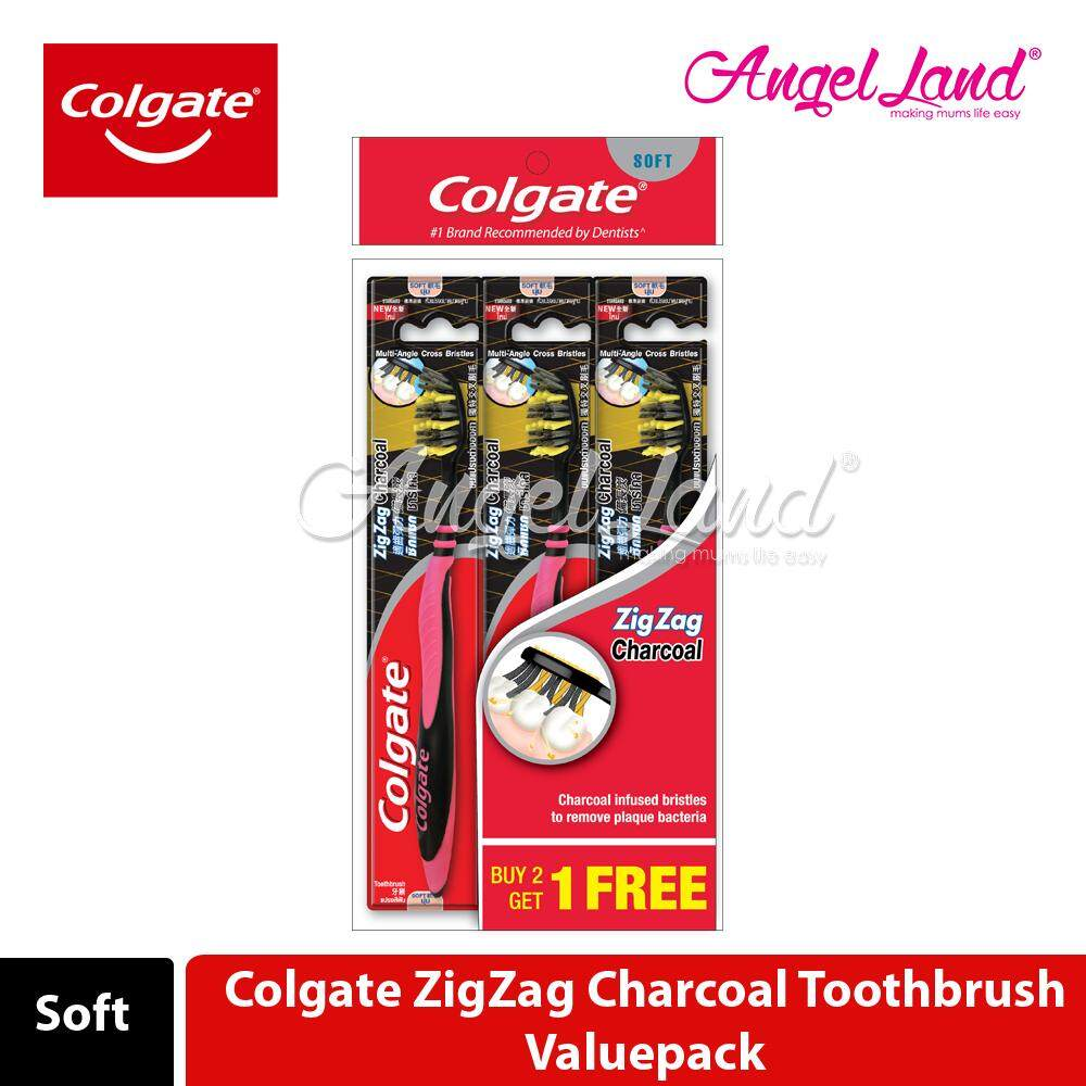 Colgate ZigZag Charcoal Toothbrush Valuepack (Soft)