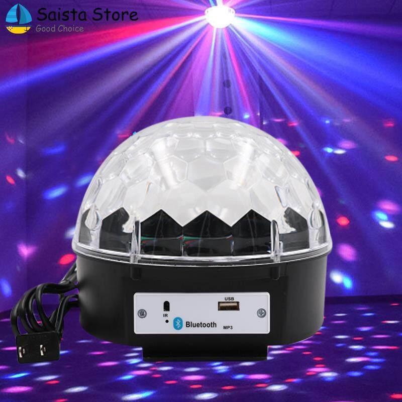 Saista Lampu Musik LED Kristal Bola Lampu Ajaib LED Lampu Panggung Bluetooth 4.0 Loudspeaker MP3 Laser