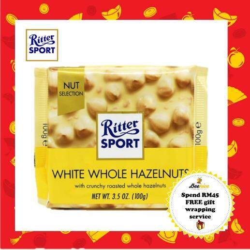 Ritter Sport White Whole Hazelnuts 100g *FREE Gift Wrapping
