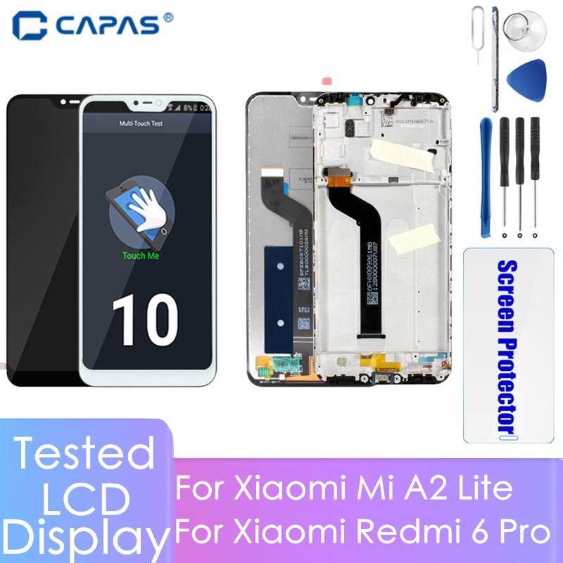 5.84 100% Được Kiểm Tra Bộ Số Hóa Màn Hình LCD Cho Xiaomi MI A2 Lite/Redmi 6 Pro Màn Hình Hiển Thị LCD Bộ Số Hóa Có Khung Hoàn Toàn Màn Hình Cảm Ứng LCD tủ Lắp Ghép Dự Phòng Thay Thế Phần + Dụng Cụ Sửa Chữa + Tặng Kính Cường Lực