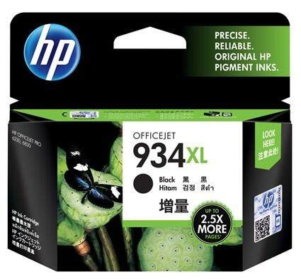 HP 934XL Original High Yield Black Ink Cartridge 25.5ml for OfficeJet Pro 6230 6830c 6830e
