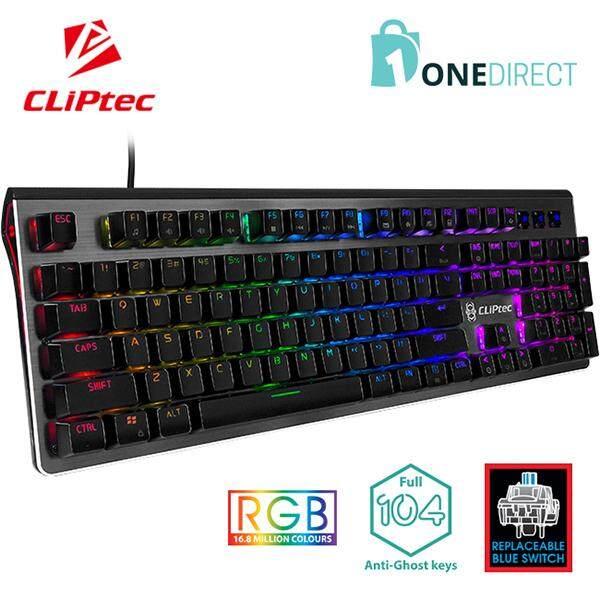 CLiPtec Stegocoria RGB Mechanical Pro-Gaming Keyboard RGK833