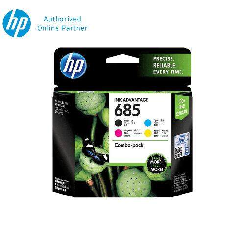 HP 685 Combo Pack Black/Cyan/Magenta/Yellow Original Ink Advantage Cartridge F6V35AA