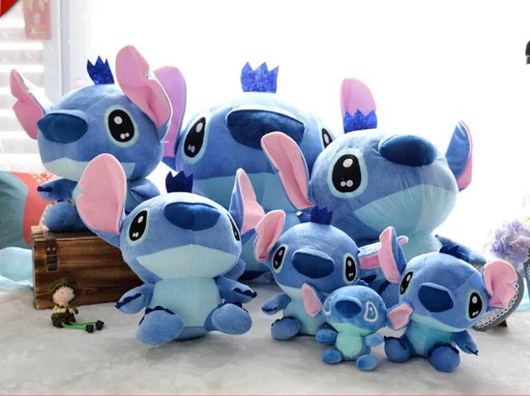Lilo stich blue soft toys present cartoon cute gift t anniversary birthday gifts toy plush ready stock cotton stitch toys for girls