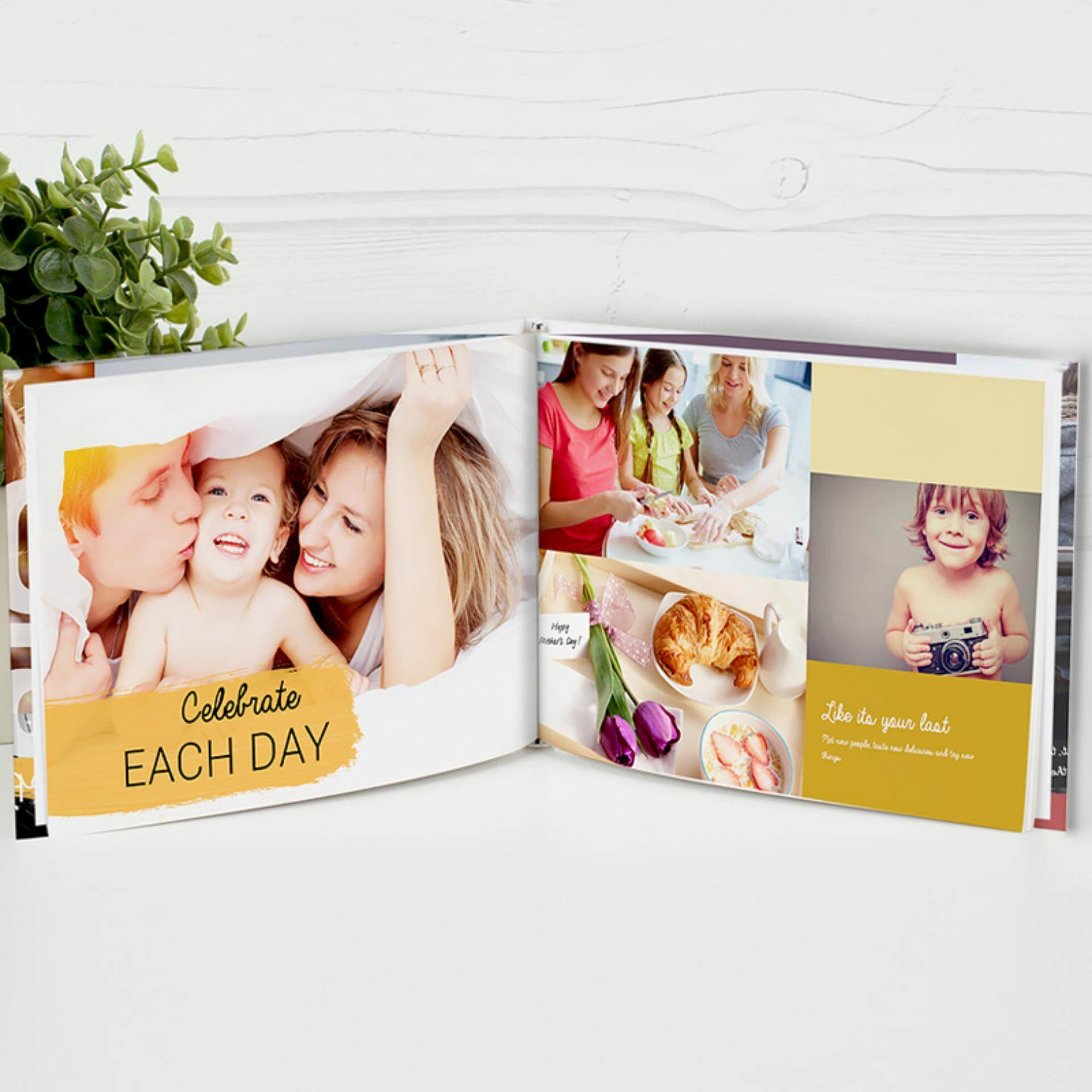"Photobook Malaysia 14"" x 11"" Large Landscape Imagewrap Hardcover Photo Book, 40 Pages"