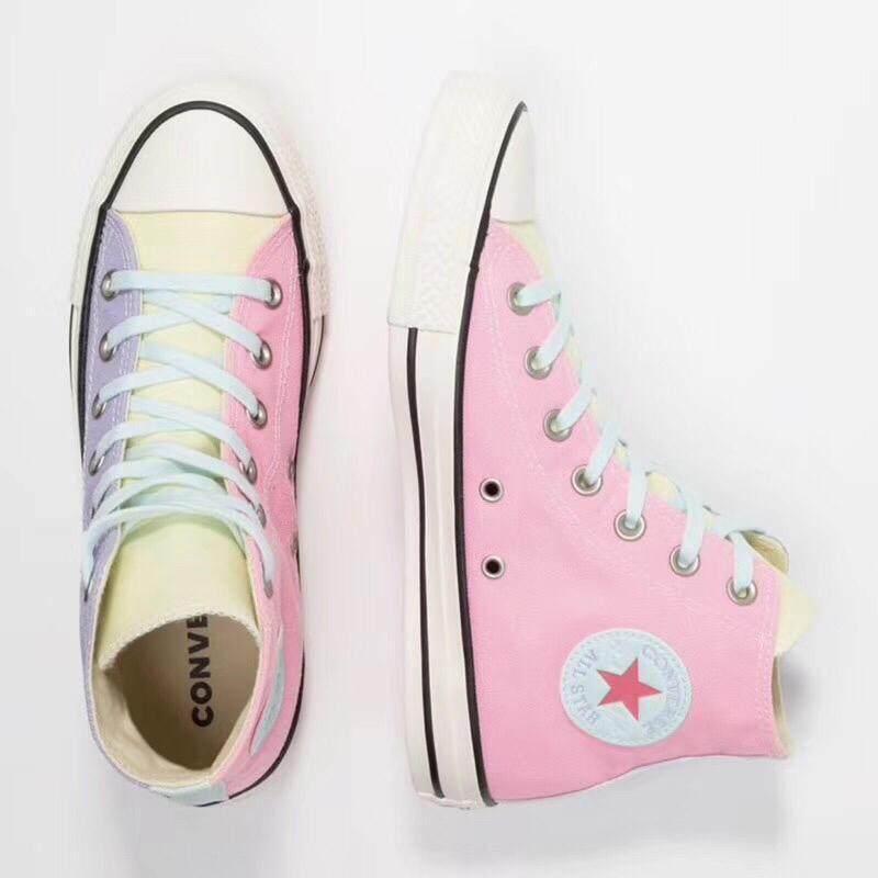 ยี่ห้อนี้ดีไหม  นราธิวาส Converse_ALL STAR สีเย็บแฟชั่นสบายๆรองเท้าผ้าใบ