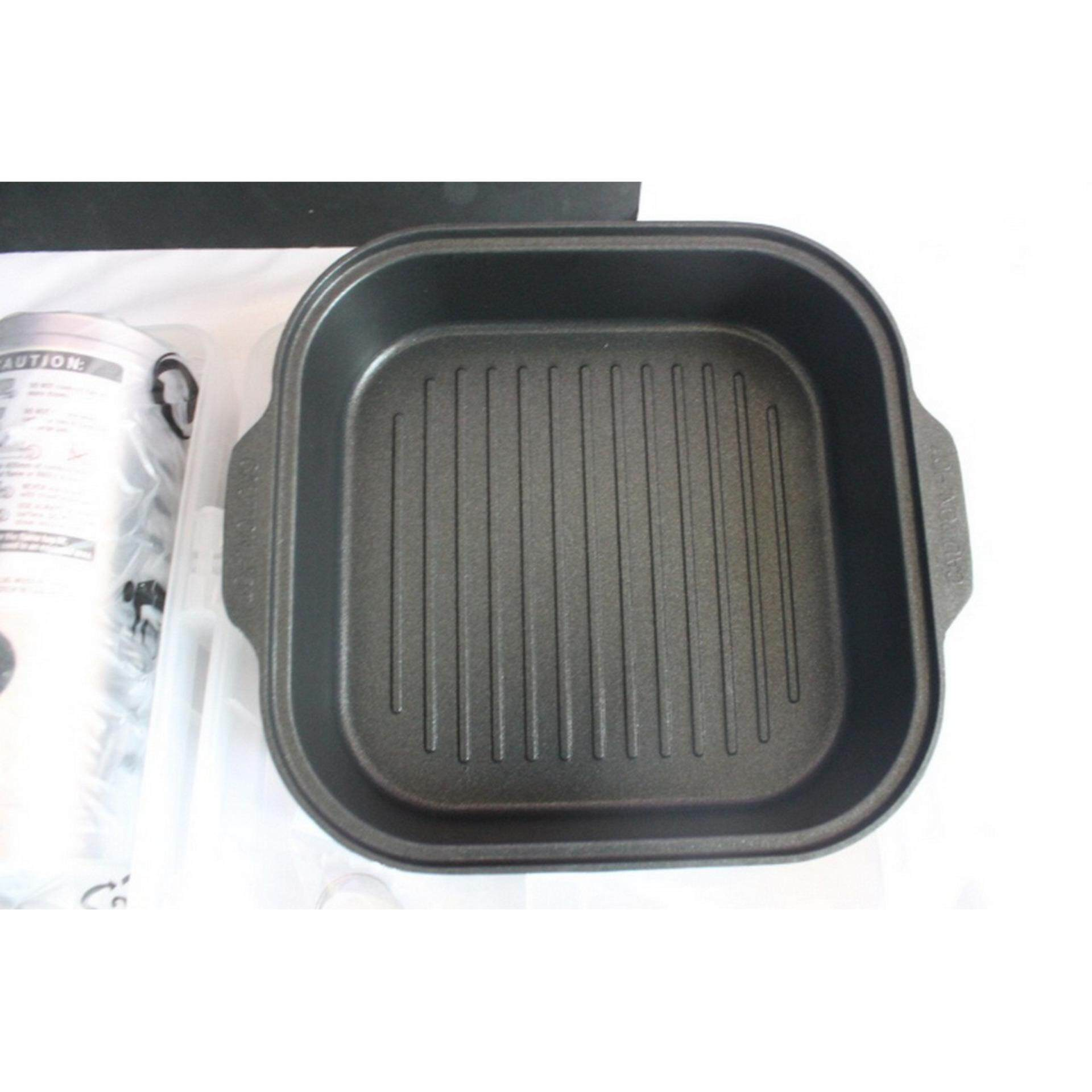 1 Set Outdoor Mini Portable Stove with Grill Pan,Food Tong, Scissor set. Ship in 6 Hours ! (Chrome)