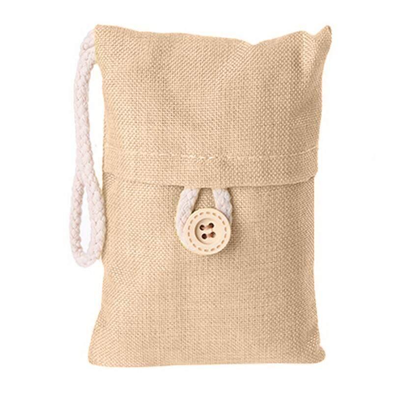 Hình ảnh 100g Bamboo Charcoal Bag Saddlebag for Eliminating Air Odour Indoor Flaxen - intl