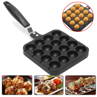 16 Holes Takoyaki Grill Pan Plate Mold Octopus Ball Maker With Handle Kitchen Cooking Baking Tools