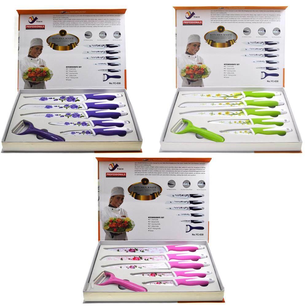 6pcs Non Stick Coating Knife Set