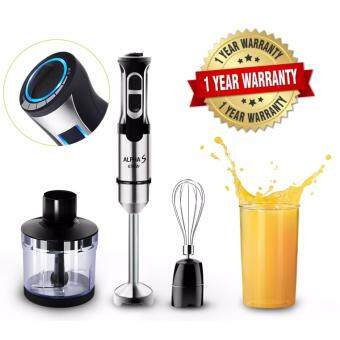 Alpha S Multi Functional 8 Speed Hand Blender Food Processor and Mixer With Speed Control(Malaysia 3 pin Plug)