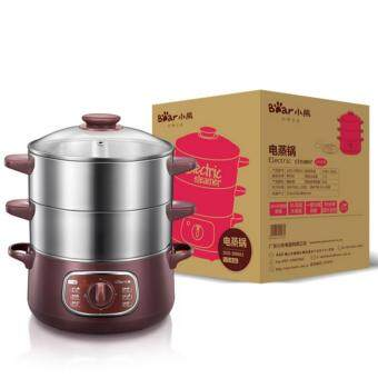 Bear electric steamer DZG-D80A1 multi-layer stainless steel steamertiming function (Coffee) - 3