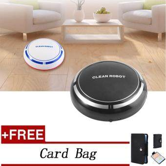 Harga (Buy 1 Get 1 Free Gift) USB Recharging Automatic Robotic Floor Cleaner Household Dust Sweeping Smart Machine- Black