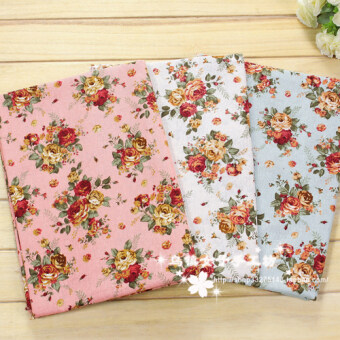 Chinese-style Rose Flower curtain decorative new Linen Fabric