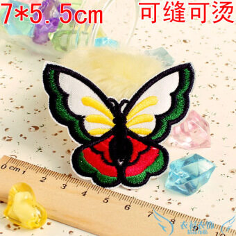Color butterfly cloth ironing decals decorative stickers cute cartoon butterfly curtain table cloth bed sheets patch the hole stickers