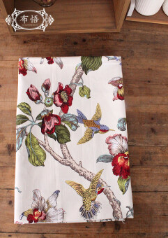 Cotton flowers and environmentally friendly canvas material pillow