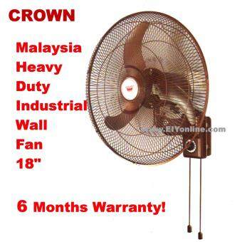 Harga CROWN INDUSTRIAL WALL FAN 18