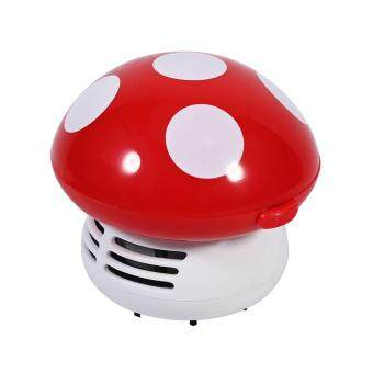 Cute Mini Mushroom Shape Laptop keyboard Desktop Keyboard CornerDust Vacuum Cleaner Sweeper New (Red) - 3