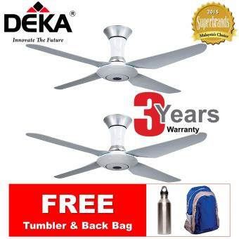 "DEKA DK80 4-Blade 56"" Ceiling Fan w Remote Control *FOC Tumbler & Back Bag"