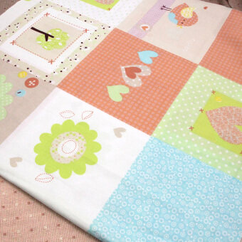 DIY stitching fabric printed twill cloth fabric
