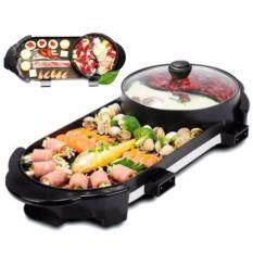 Dual Temperature Control 2 In 1 High Quality Multifunction Bbq Electronic Pan Grill Teppanyaki