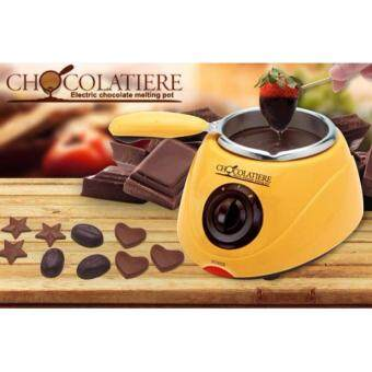 Electric Chocolate Fountain Fondue Chocolate Melt Pot Melter Machine & Decorating Kit Mold Set
