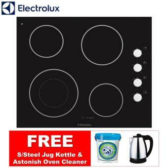 Harga ELECTROLUX EHEC65BS Built-in Ceramic Hob 4-Burner *FREE GIFTS