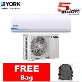 [FREE BAG] YORK 1HP AIR CONDITIONER YWM3F10CAS-W/YSL3F10AAS