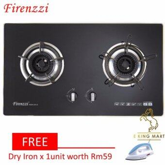 Harga [FREE Gift]Firenzzi FGH-2013 High End Tempered Glass 2 Burner GasBuit in Hob/Table Top Cooker