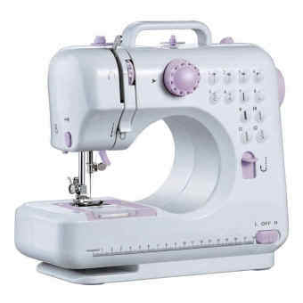 FSHM-505A Pro Upgraded 12 Sewing Options Mini Portable Handheld Sewing Machine (Purple) FREE 100 PCS Sewing Kit