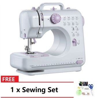 FSHM-505A Pro Upgraded 12 Sewing Options Mini Portable Handheld Sewing Machine (Purple) FREE SewingSet