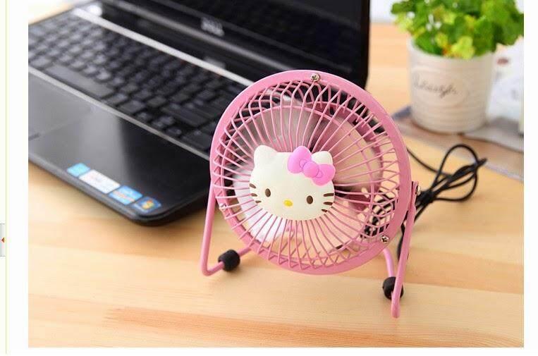 HELLO KITTY Cute Mini Steel USB Table Desk Fan Powerbank
