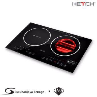 Harga HETCH 2 in 1 Induction + Halogen Cooker 1500W + 1600W (SIRIM Certified Malaysia Standard)