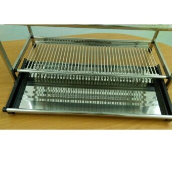 Home99 High Quality Stainless Steel Dish Rack 3 Tiers - 3
