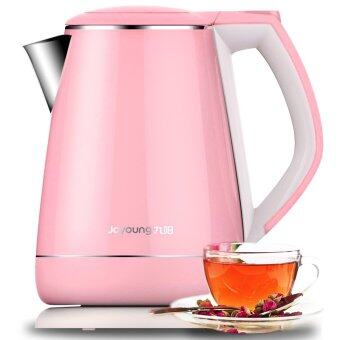 Harga Joyoung K15-F623 Eectric Kettle to Boil Water off Automatically Double 304 Stainless Steel (Pink)