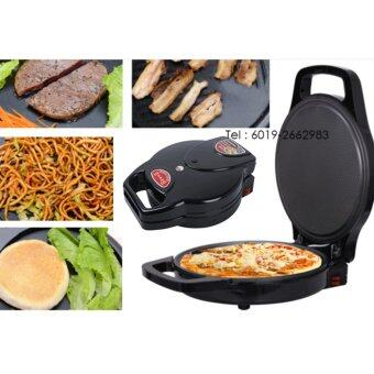 Harga Korean Style HSX-1046 Multifunctional Electric Double Sided Suspension Type Waffle Pizza Baking Pan 34cm (Black)