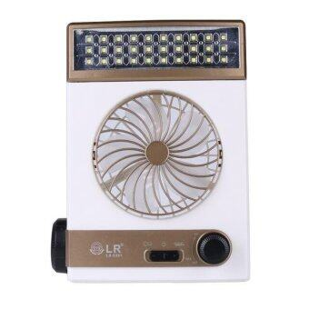 Harga LED Solar-powered Fan (Brown)