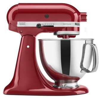 Harga KitchenAid KSM150PSER Artisan Tilt-Head Stand Mixer with Pouring Shield, 5-Quart, Empire Red