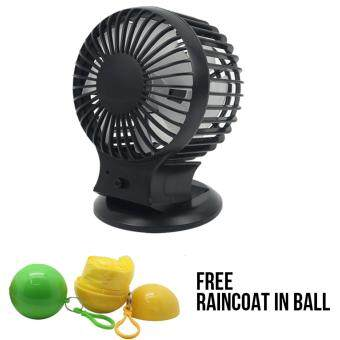 Harga Twin Blade Power Fan +Raincoat in Ball