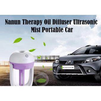 Harga Nanun Therapy Oil Diffuser Ultrasonic Mist Portable Car Charger Mini Air Purifier Humidifier Aromatherapy Car Supplies - Purple
