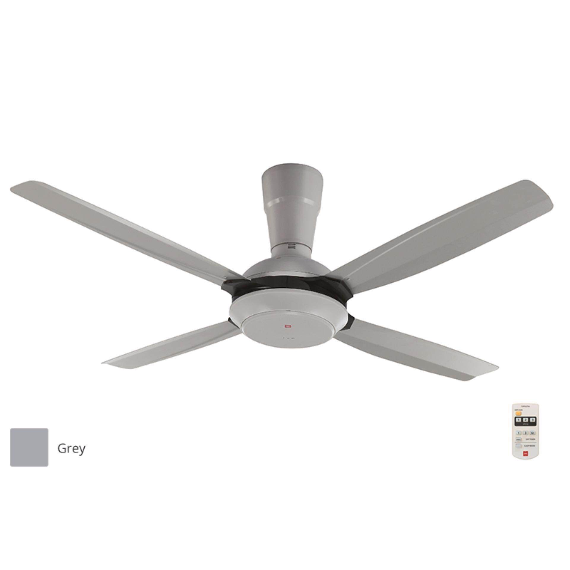 KDK 4 Blade Ceiling Fan With Remote K14X5-GY-Grey