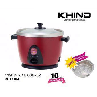 Harga KHIND Anshin Rice Cooker RC118M RED