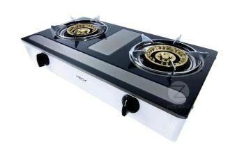 Meck Table-top Gas Stove MGS-1455AY Double Burner 145mm - Stainless Steel Body - 4